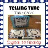 Telling Time: Digital to Analog Task Cards