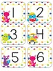 Telling Time Display Cards Monster Themed