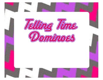 Telling Time Dominoes