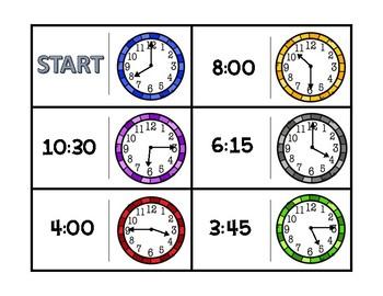 Telling Time Practice Dominoes