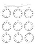 Telling Time-Drawing Hands on the Clock Worksheet