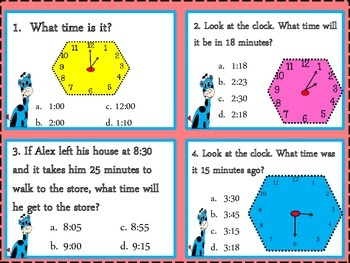 Telling Time & Elapsed Time {3 MD 1}