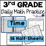 Telling Time Elapsed Time Daily Review 3rd Grade Bell Ringers Warm Ups