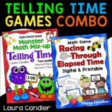 Telling Time / Elapsed Time Math Games Bundle