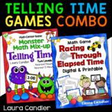 Telling Time / Elapsed Time Games Bundle