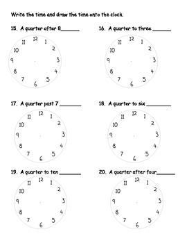 Telling Time, Elapsed Time, & Time Word Problems