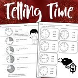 Telling Time & Elapsed Time Worksheets