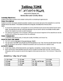 Telling Time Elementary Game Puzzle with Worksheet