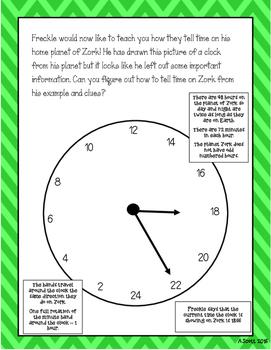 Telling Time Enrichment Activity