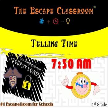 Telling Time Escape  Room (K - 1st Grade) | The Escape Classroom