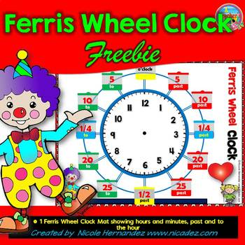 Telling Time FREEBIE - Ferris Wheel Clock Mat