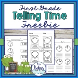 Telling Time FREEBIE First Grade Math Easel Compatible