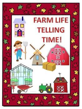 Telling Time: Farm Life (Task Cards)