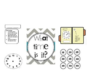 Telling Time File Folder Game