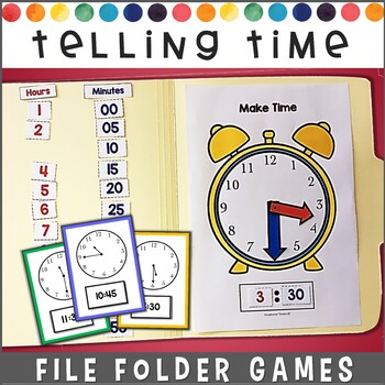Telling Time File Folder Games #spedchristmas2