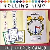 Telling Time File Folder Games