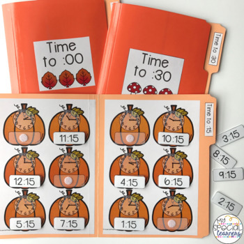 Telling Time File Folders BUNDLE for Special Education
