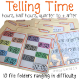 Telling Time File Folders (Digital and Analog)- Special Education / Autism