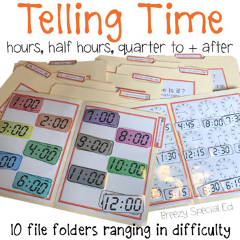 Telling Time File Folders (Digital and Analog) - Special Education / Autism