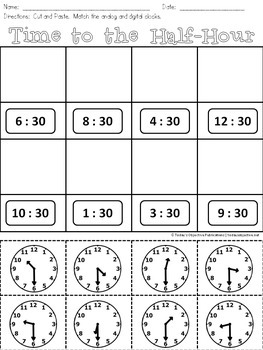 Time Unit First Grade