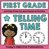 Telling Time (First Grade Cut and Paste Practice)
