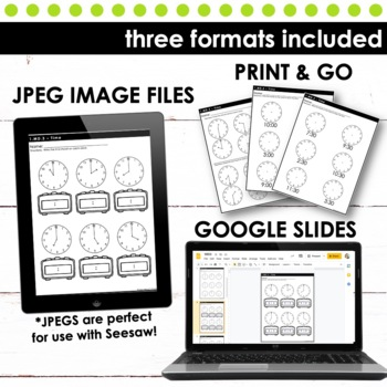 Telling Time - First Grade Print and Go
