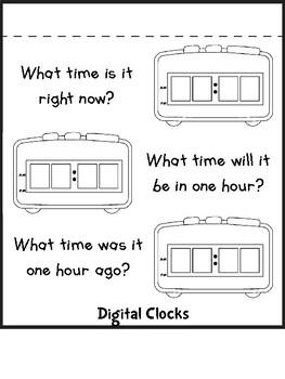 Telling Time Flip Book