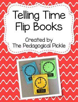 Telling Time Flip Books -- FREEBIE!