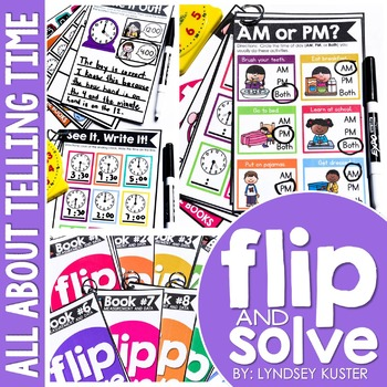Telling Time - Flip and Solve Books