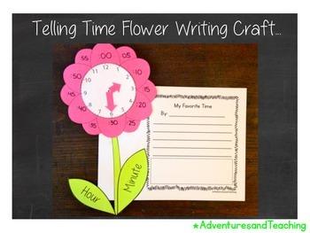 Telling Time Flower Craftivity