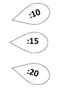 Telling Time Decoration for Classroom White Flower Petals