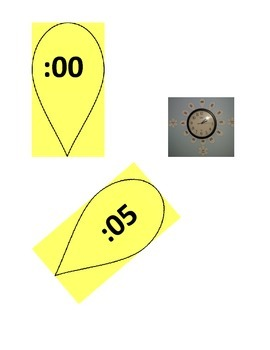 Telling Time Decoration for Classroom Clock Yellow Flower Petals