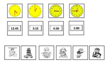 Telling Time Foldable