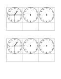Telling Time Foldable: Quarter past, half past, and quarter till