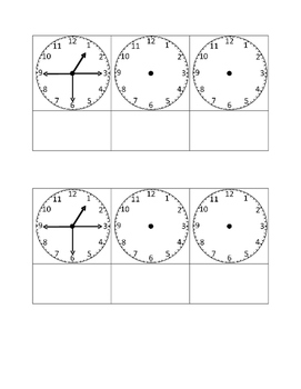 Telling Time Foldable: Quarter past, half past, and quarter till