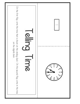 ‪Telling Time Interactive Notebooks