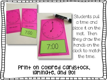 Telling Time Fun!  No Worksheet Required!