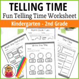 Telling Time - Fun time telling worksheets