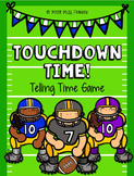 Telling Time Football Math Game Center