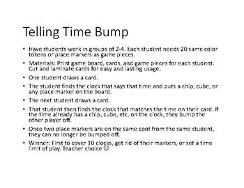 Telling Time Game Bundle
