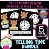 Telling Time Game Bundle   Boom Cards   5 Game Bundle