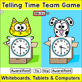 Telling Time Game -  Cat vs. Dog Team Challenge Digital Game for Smartboards