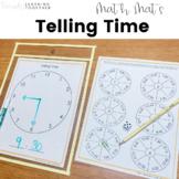 Telling Time Game - Clock Math Mat