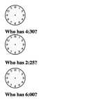 Telling Time Game-I have, who has?