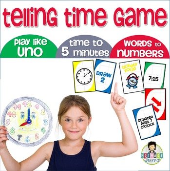 Telling Time Game Uno-Inspired *JR. EDITION