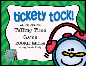 Telling Time Card Game  *ROOKIE EDITION