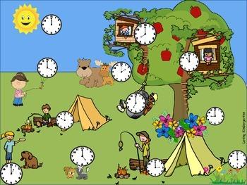 Telling Time Game for Kindergarten