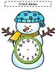 Telling Time Games Bundle Unit With-Snowmen Gingerbread Man Penguin Polar Bear