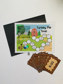 Telling Time Games and Craft BUNDLE - Turkey/Thanksgiving