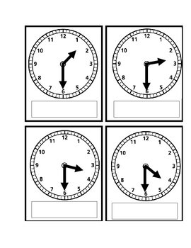 Telling Time Go Fish or Memory